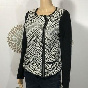 5/$25 Lucky Brand Moto jacket Cardigan Sweater